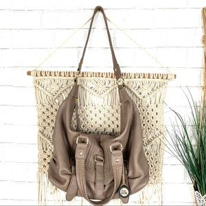 The sak leather taupe bag